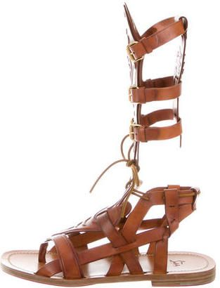 e5d8dc53f8a Christian Louboutin Leather Gladiator Sandals | palms | Leather ...