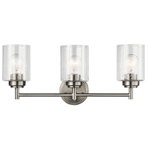 Kichler Winslow Brushed Nickel 22 Inch Three Light Bath Light 45886ni Bellacor Bath Vanity Lighting Vanity Lighting Bath Light