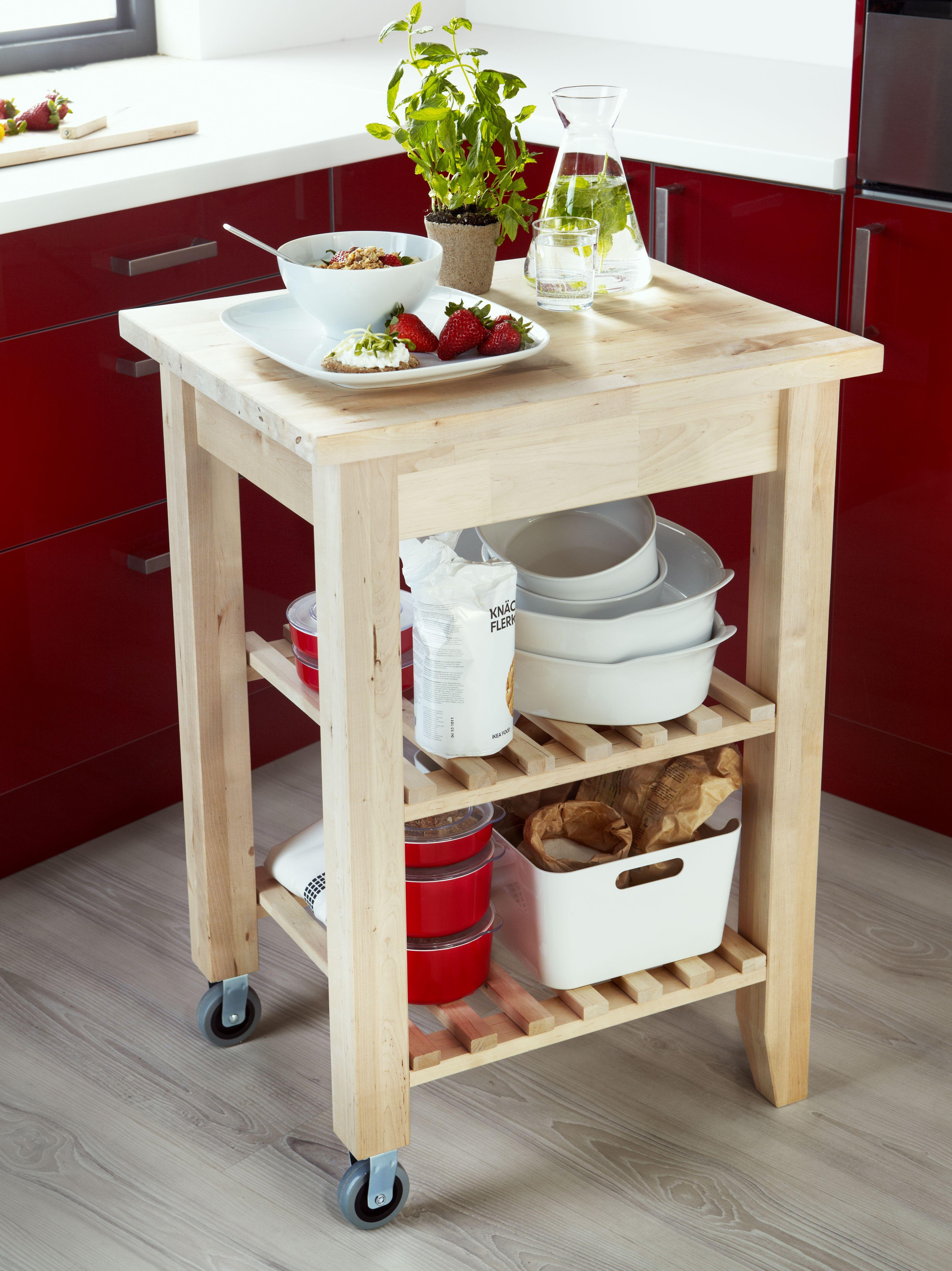 BEKVÄM Carrito - abedul | Mueble auxiliar cocina, Mesas de ...