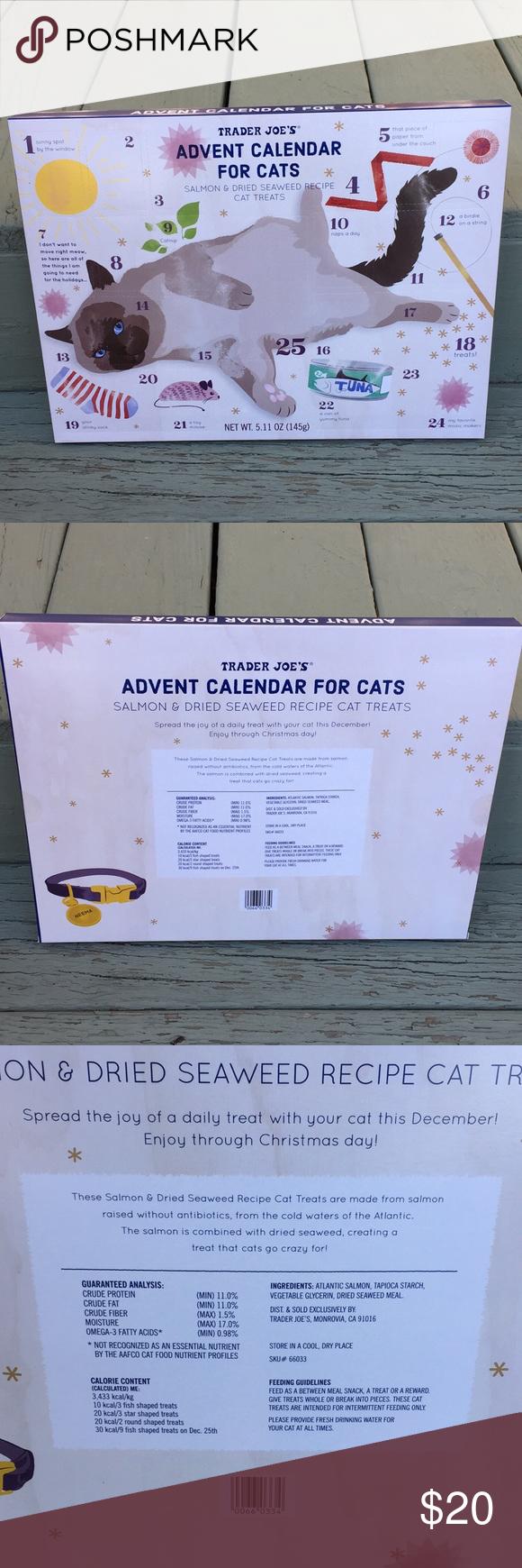 Trader Joe's Advent Calendar for Cats NWT NWT Cat advent