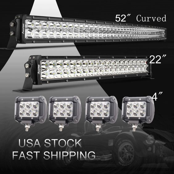 52inch led light bar combo 22 7 cree pods offroad suv 4wd 52inch led light bar combo 22 7 cree pods offroad suv 4wd ford jeep 5020 aloadofball Choice Image