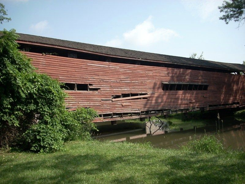 Gilpin covered bridge before  it was restored