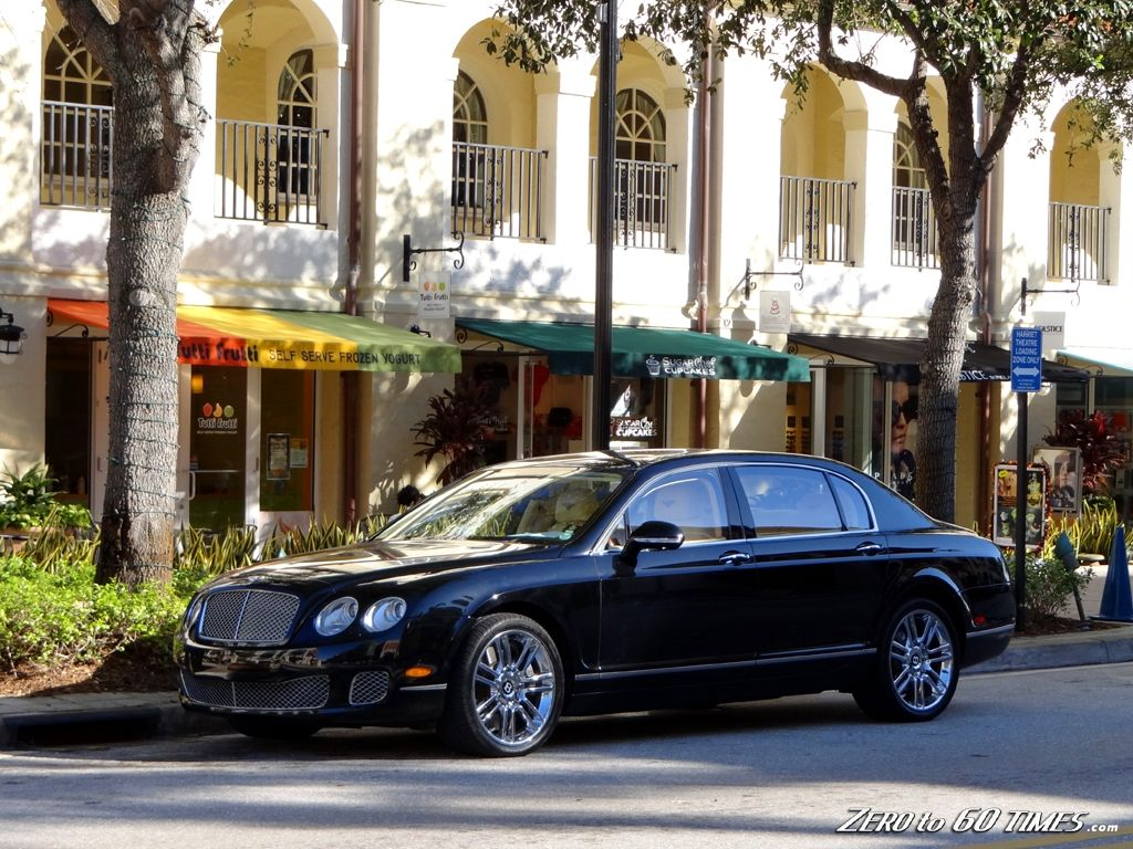 Wealthy person's Bentley Flying Spur in West Palm Beach, Florida