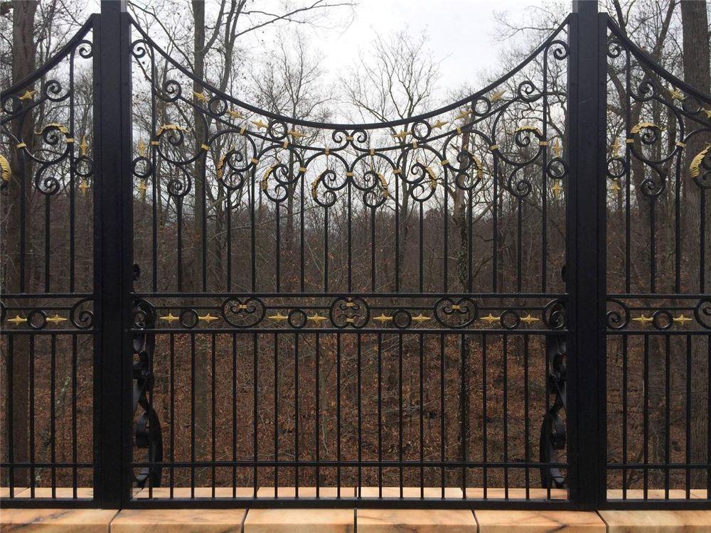 Hand Wrought Custom Iron Fence Panels Wrought Iron Custom Fence