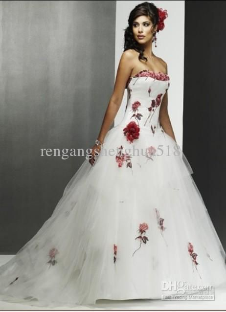 90b458a889 2014 free shipping White Chiffon rose Lace Wedding dress Gown Plus ...
