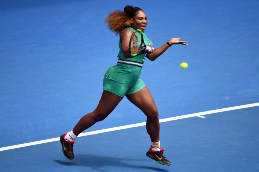 8a4dcfbed470 Serena Williams and her powerful forehand swing. how grip/hold tennis  racquet. wilson tennis racquet #rere #wtatour Australia open 2019