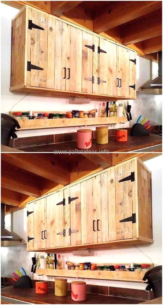 wood pallets made kitchen cabinet | DECORACION | Cocinas con ...