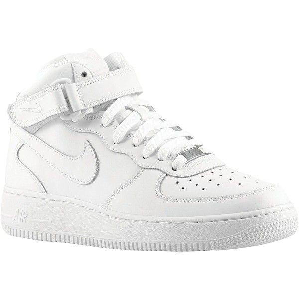 Nike Air Force 1 Mid Boys' Grade School ($85) ❤ liked on ...