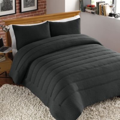 Bed Bath And Beyond Jersey Sheets Alluring Like Color But Not The Fabric Jersey Channel Stitch Comforter Set In Design Decoration