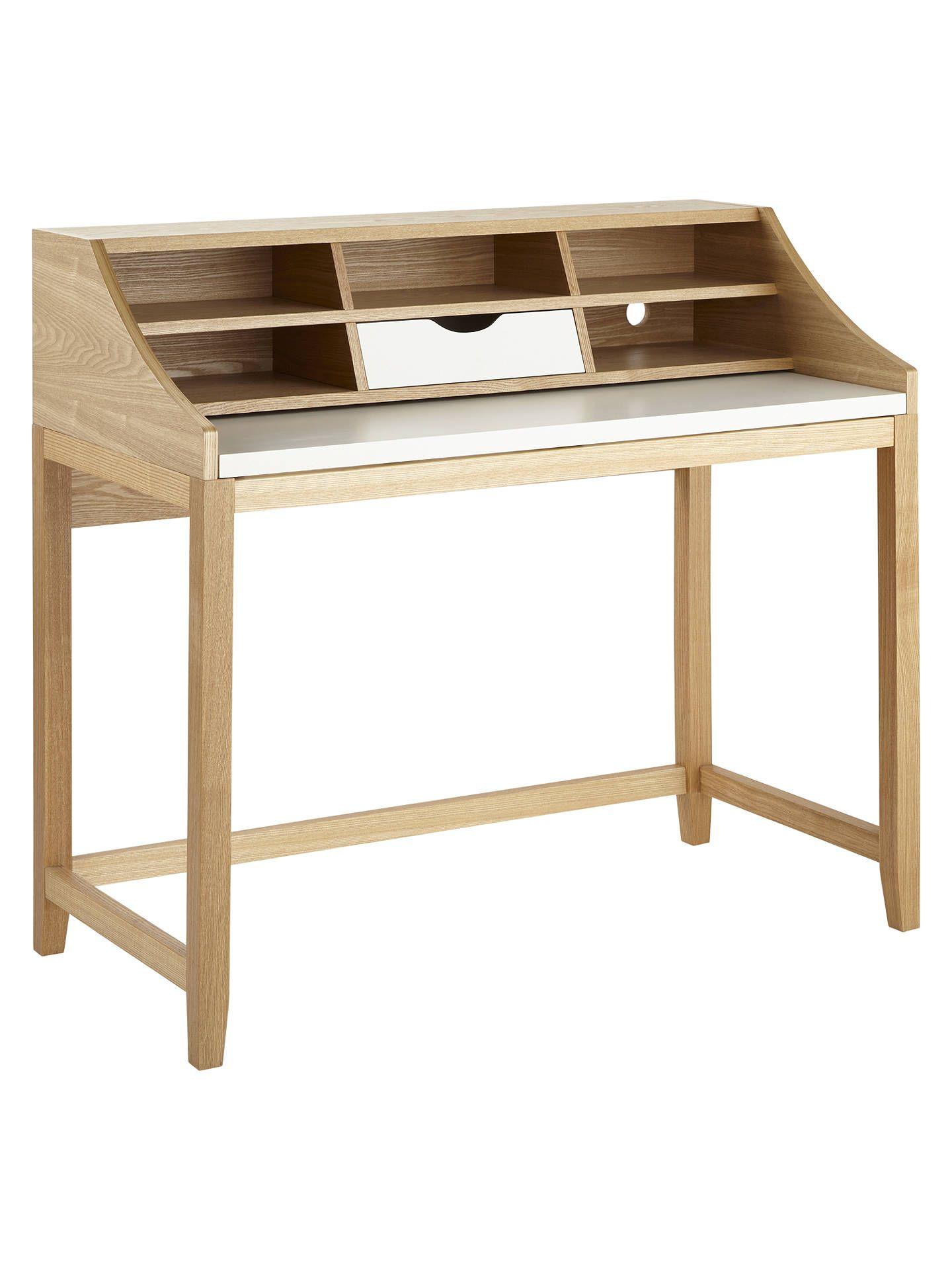 John Lewis Partners Loft Desk White Ash In 2019 Desks