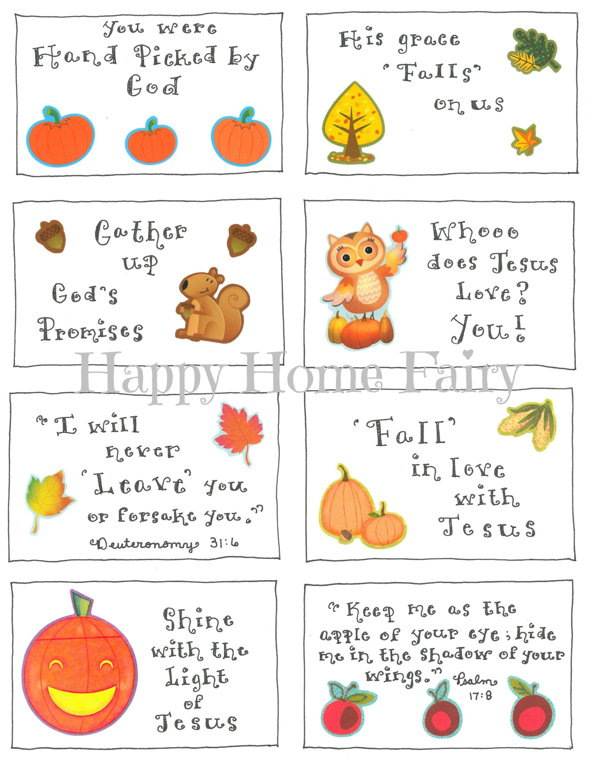 Inspirational Fall Lunchbox Notes - FREE Printable | Free printable ...