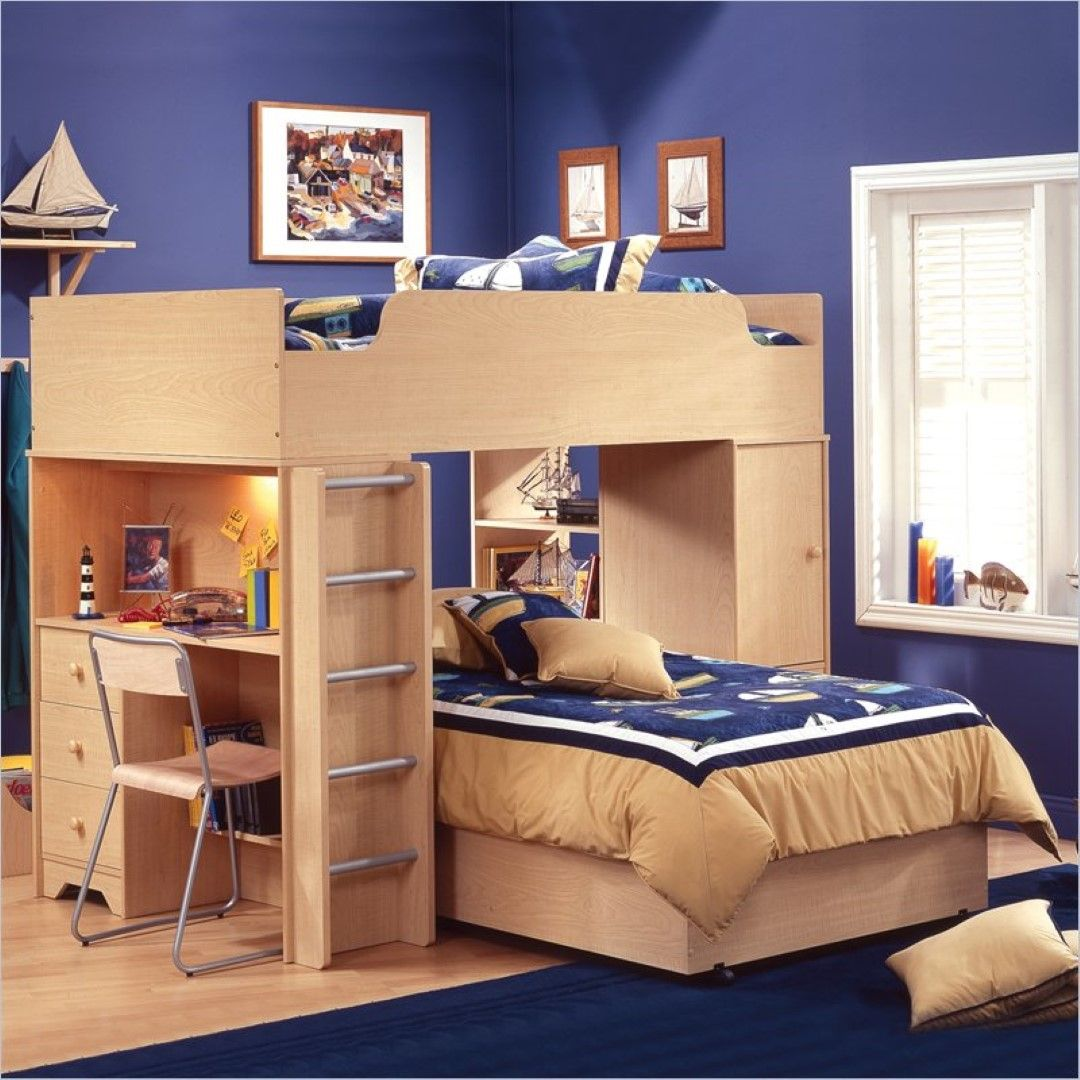 Stuva loft bed ideas  BoldBedroomWallPaintIdeasInAdditionToSteelFrameChairAlong