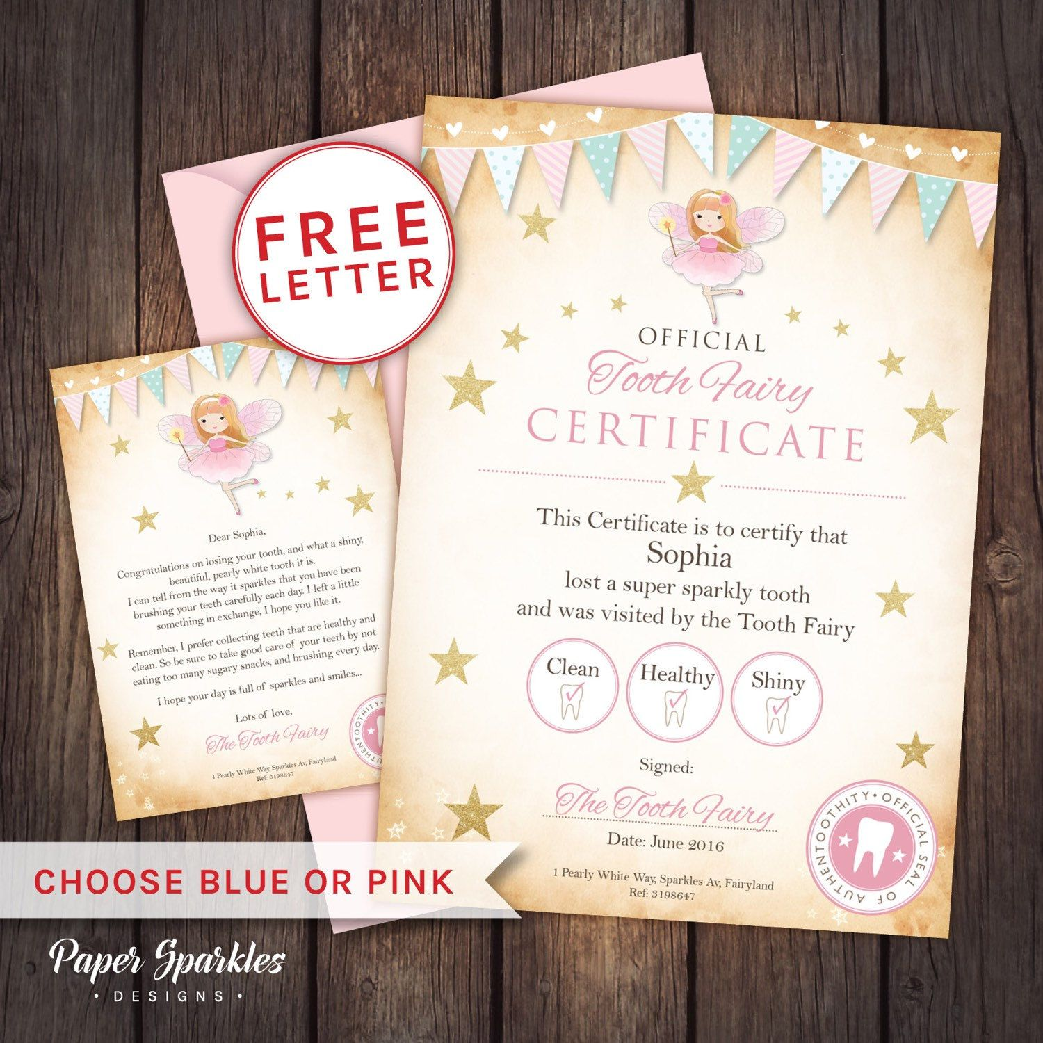 free printable fairy certificate well done for being good kids