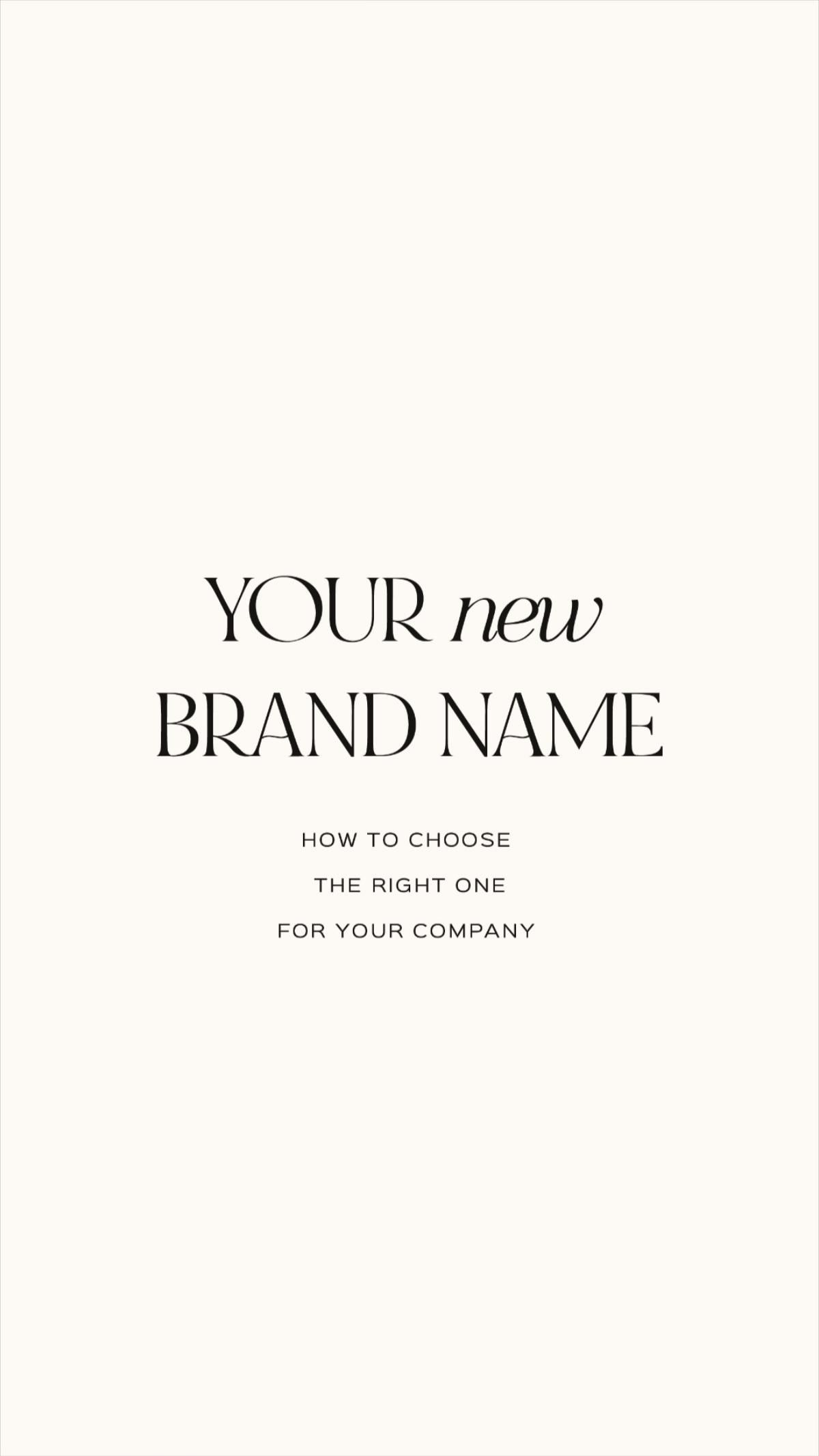 How to Choose the Right Brand Name