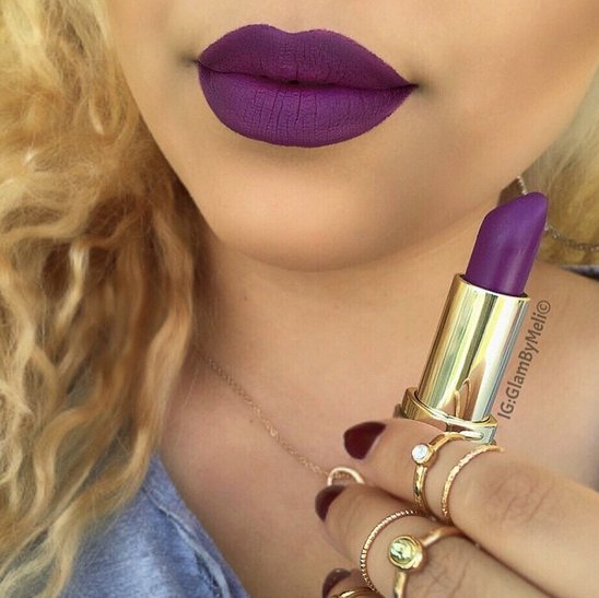 make-up purple lipstick lips dark purple #dark #make-up #purple