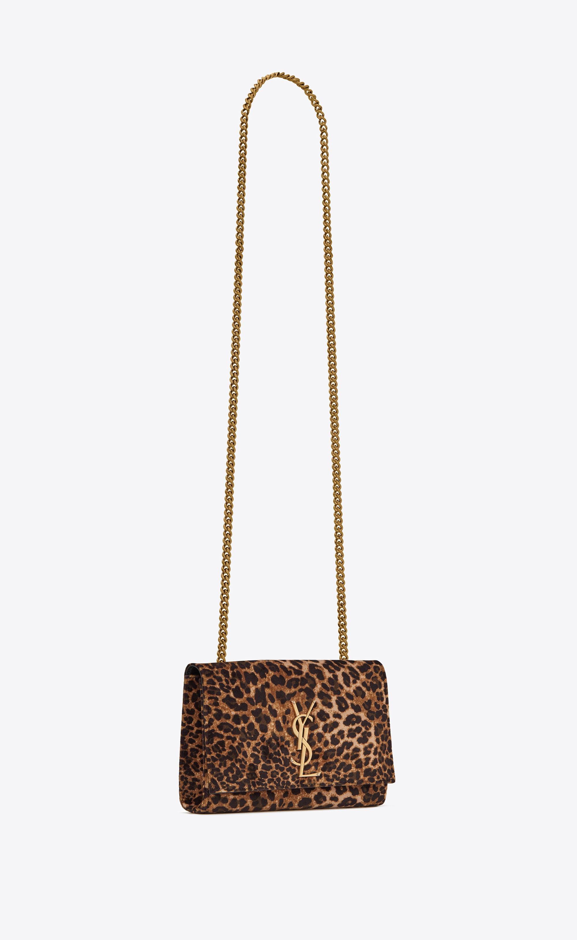 a7478cd28737  Saint Laurent - Kate Small in leopard printed velvet ( 1