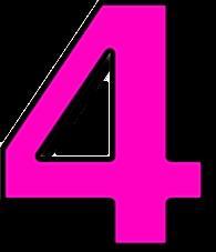 4 Number 4 Pink Http Www Wpclipart Com Signs Symbol Alphabets Crochet Cowl Pattern Cowl Pattern Crochet Patterns