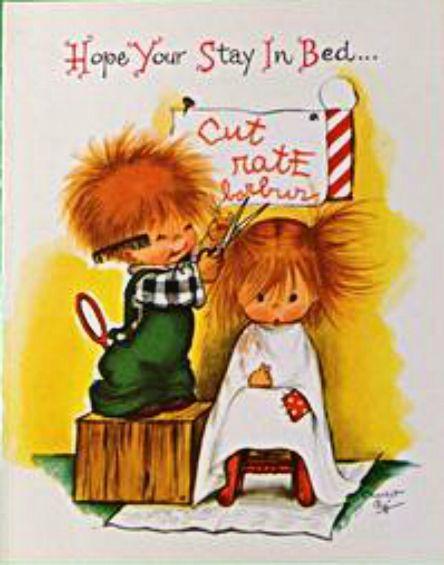 Charlot Byj Birthday Greeting Cards Vintage Redheads Children Cute