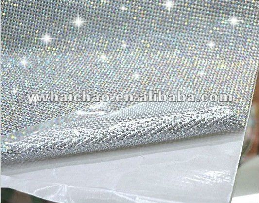 3MM ALUMINUM Rhinestone mesh 4MM rhinestone trimming metal mesh Trimming COPPER RHINESTONE MESH