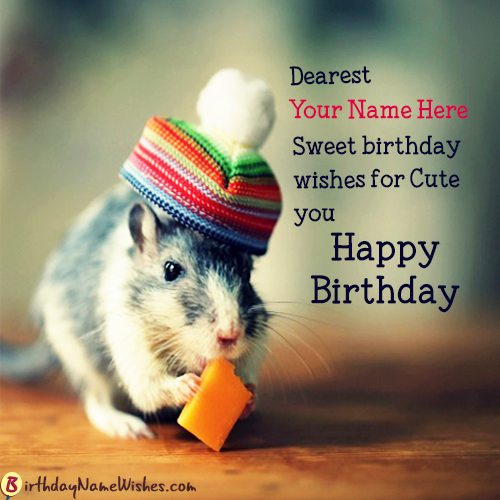 Print Your Name On Lovely HD Birthday Wishes With Maker And Generate Photo