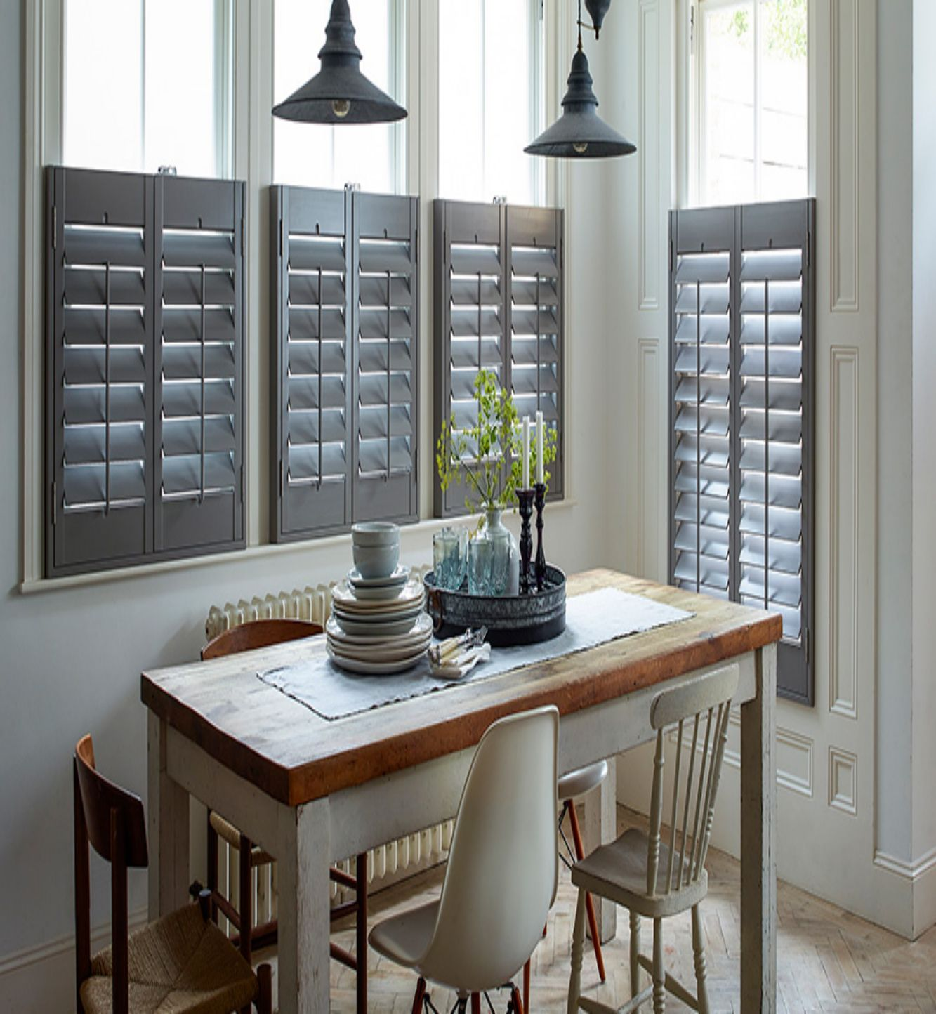Cafe Style Shutter Helps You To Match Up With A Modern