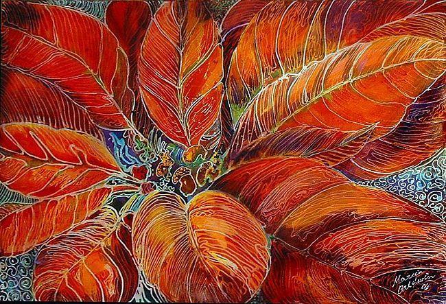 How Do You Batik | poinsettia batik is an original batik painting by m baldwin c2006 a ...