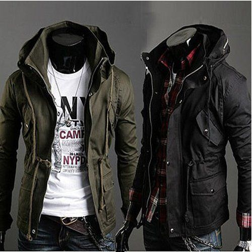 Design Spring Men Jacket Stand Collar Personality Basic Jackets Mens Casual Slim Type Coat Hombre Invierno Pockets Outwears Clothing Cheap Mens