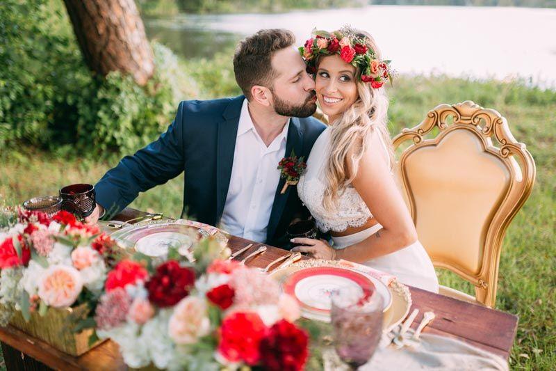 Sweetheart Wedding Table - Florist Tampa Wedding Studio - Bohemian ...