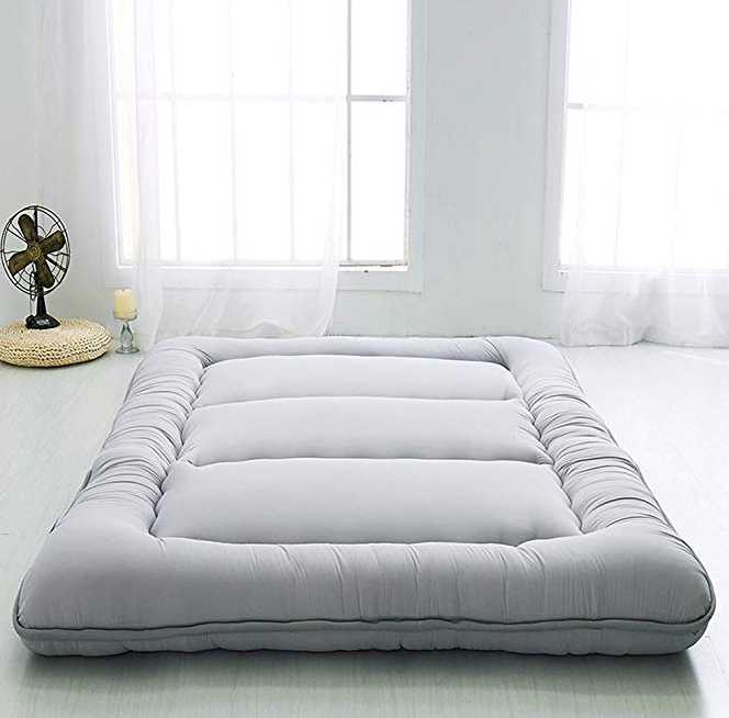 Japanese Tatami Floor Mat Sleeping Bed Foldable Futon Guest Mattress