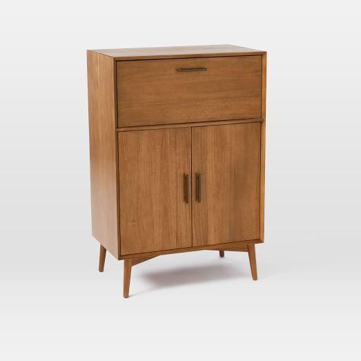 Mid Century Bar Cabinet Large Acorn