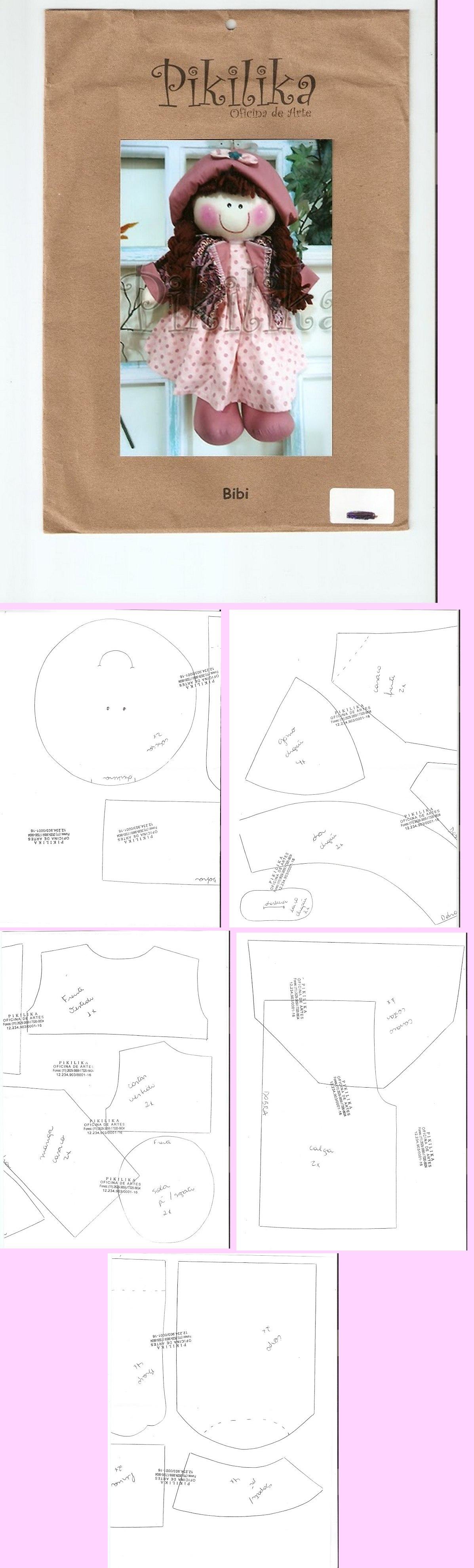 muñeca coqueta | patrones de muñecas de trapo | Pinterest | Muñecas ...
