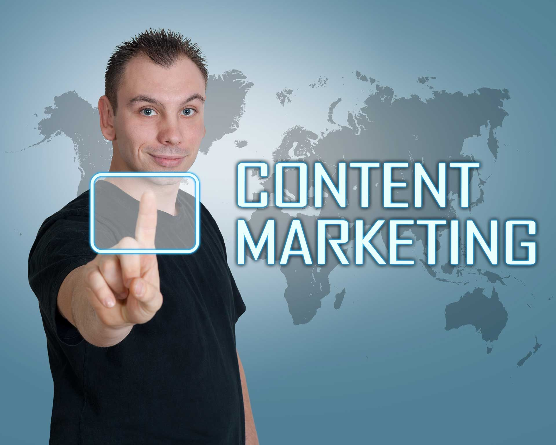 The path to content marketing Online business