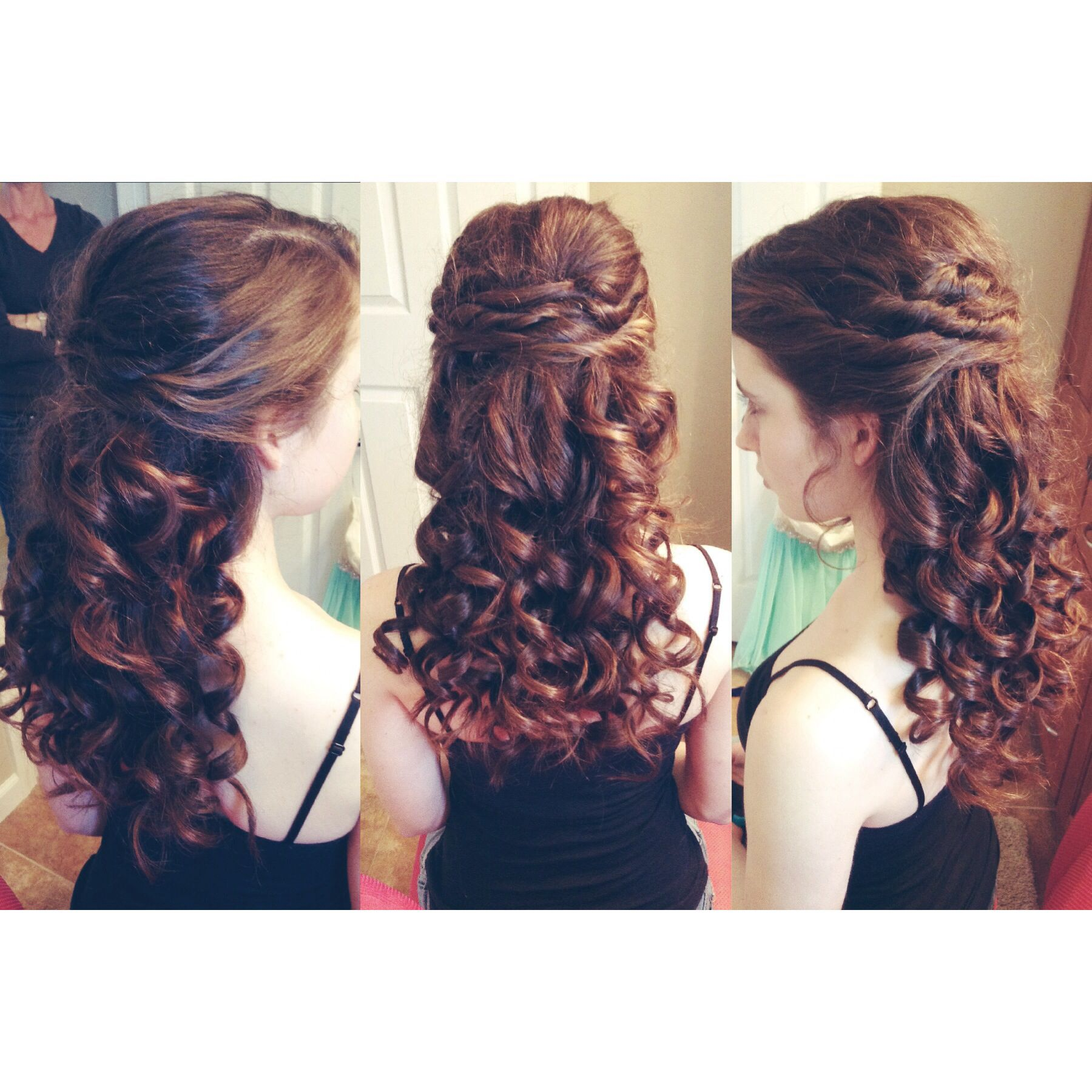 Hair i did for my sisterus school dance also a great hairstyle