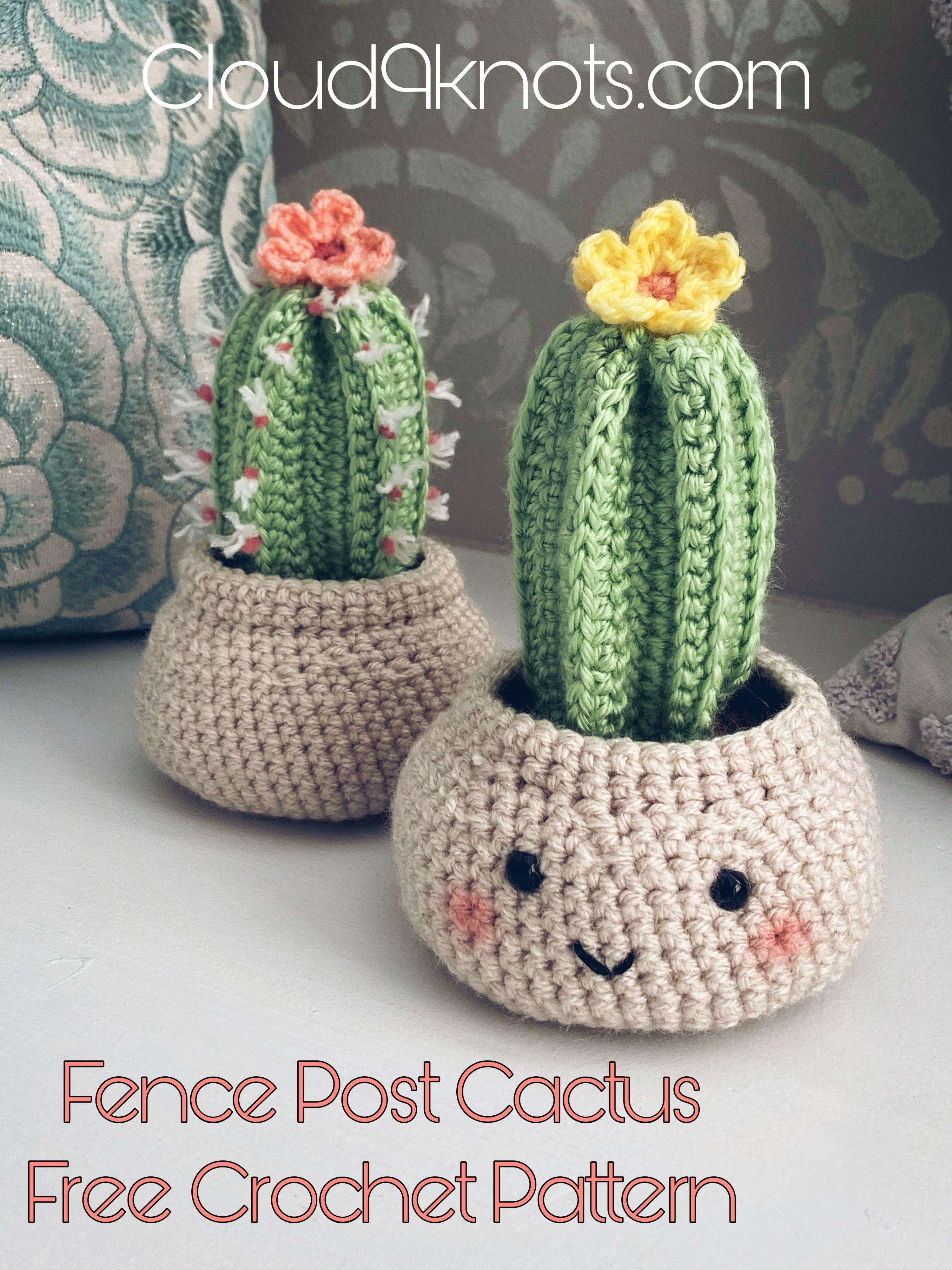 Cactus Crochet Pattern #crochetedflowers