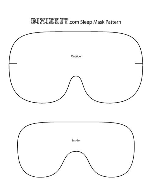 Sleep Mask pattern | Cute Crafts! | Sewing, Sleep mask, Sewing Projects