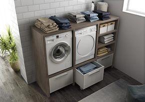 Mobile lavanderia componibile con lavatoio lavanderia by