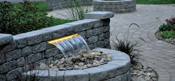 garten wasserfall selber bauen modernes exterieur | kleine grüne, Garten und Bauten