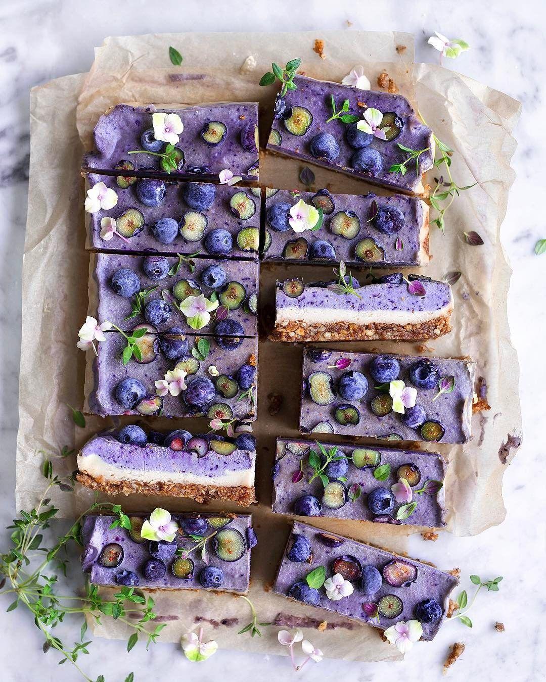Virpi Mikkonen Vanelja Vanelja On Instagram Creamy Dream Blueberry Thyme Raw Cake Mixing Berries Fresh Herbs Makes Wo Raw Cake Raw Cheesecake Food