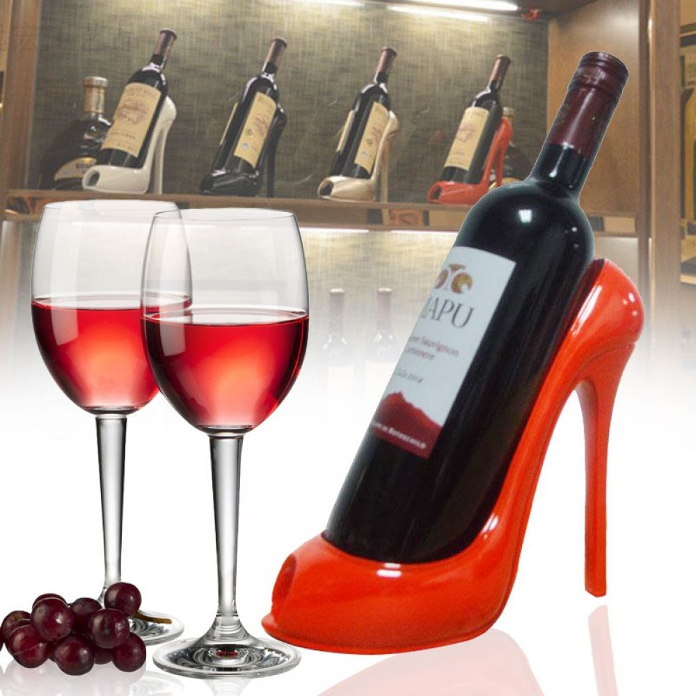 Wine Bottle Holder Stylish High Heel Shoe Design Wine Rack Wine Stand Home Decoration Interior Crafts Gift Basket Accessories En 2020