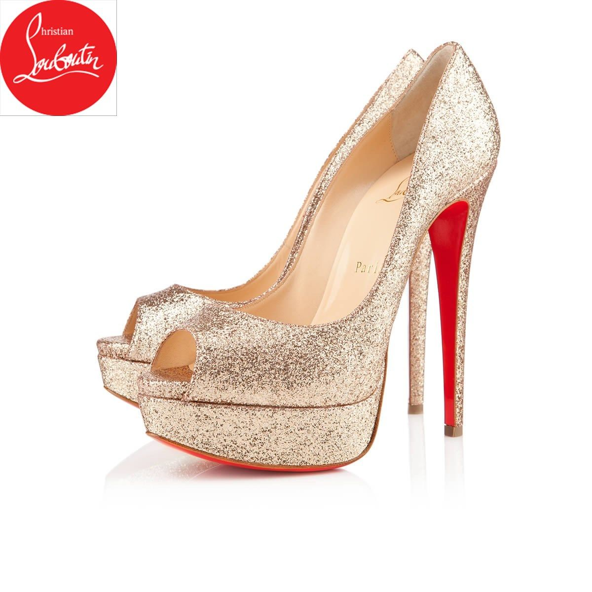 0862e11cd4ef usa christian louboutin lady peep mini glitter 72c8e 15462