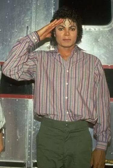 Michael Jackson gives you a salute