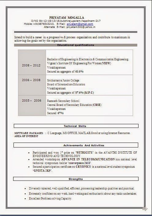 europass cv example Sample Template Example ofExcellent Curriculum