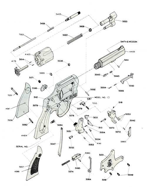 Smith & Wesson .357 Military & Police Revolver Schematic