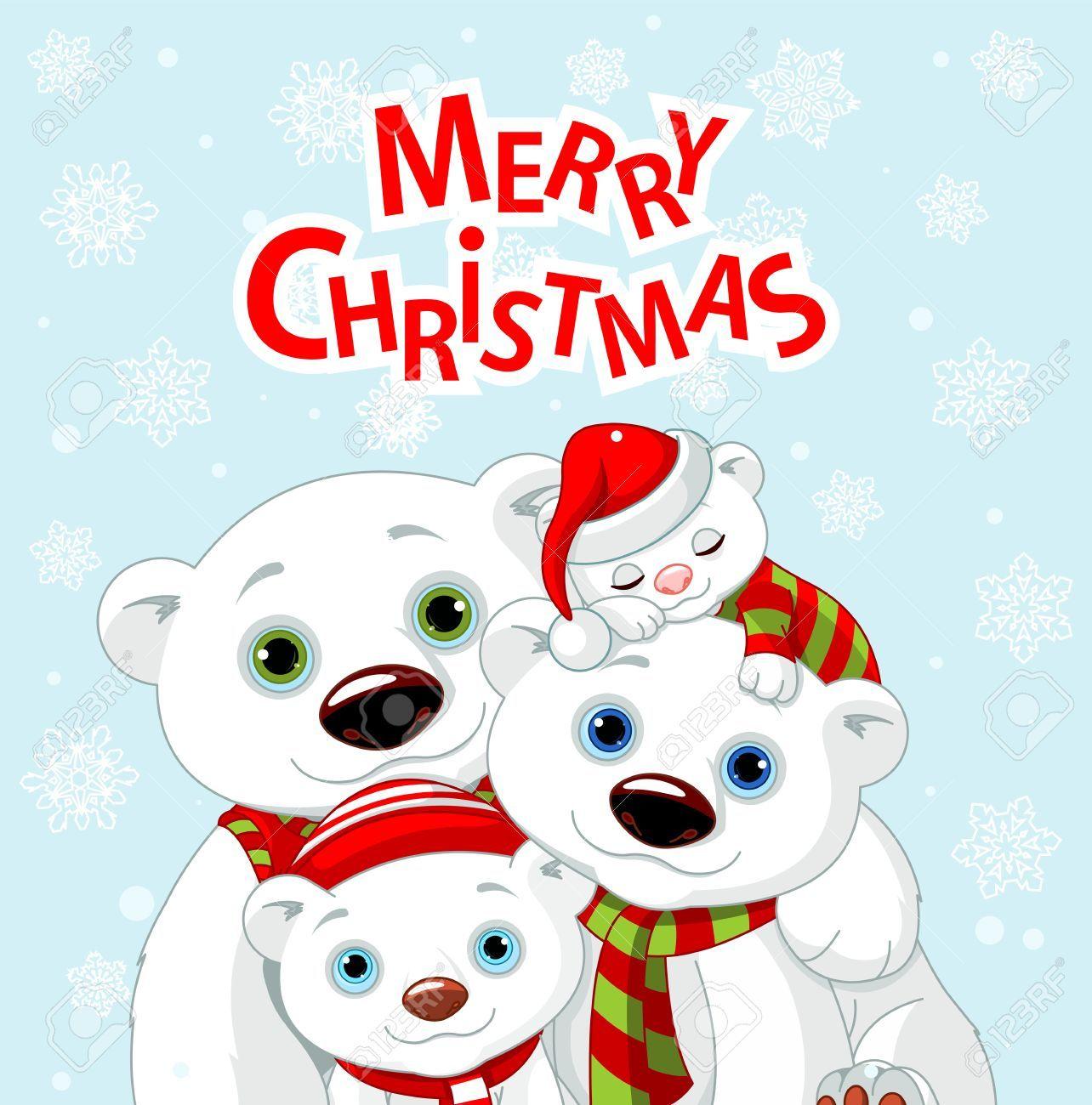 Resultado De Imagen Para Familia De Osos Navidad Family Christmas Greetings Polar Bear Card Christmas Clipart