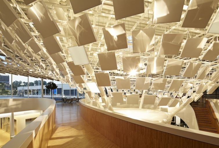 Lava S Design For The New Philips Lighting Headquarters Features An Experiential Welcome In Atrium And