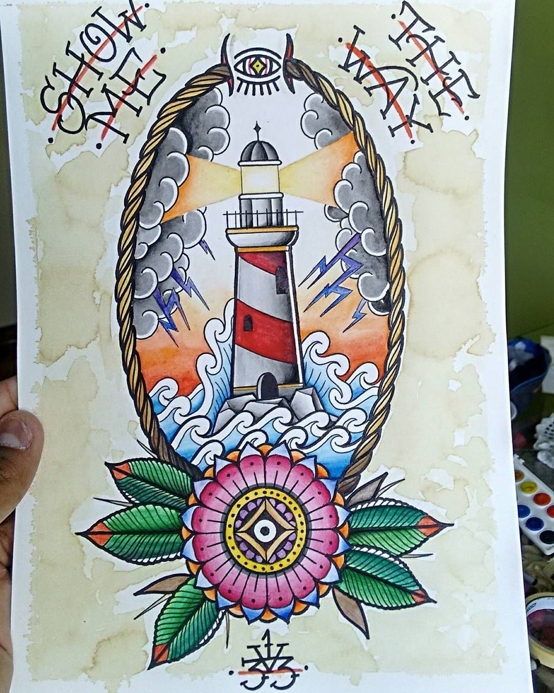 450e0f418e9ca Farol Old school. Find this Pin and more on Traditional Tattoos. ...