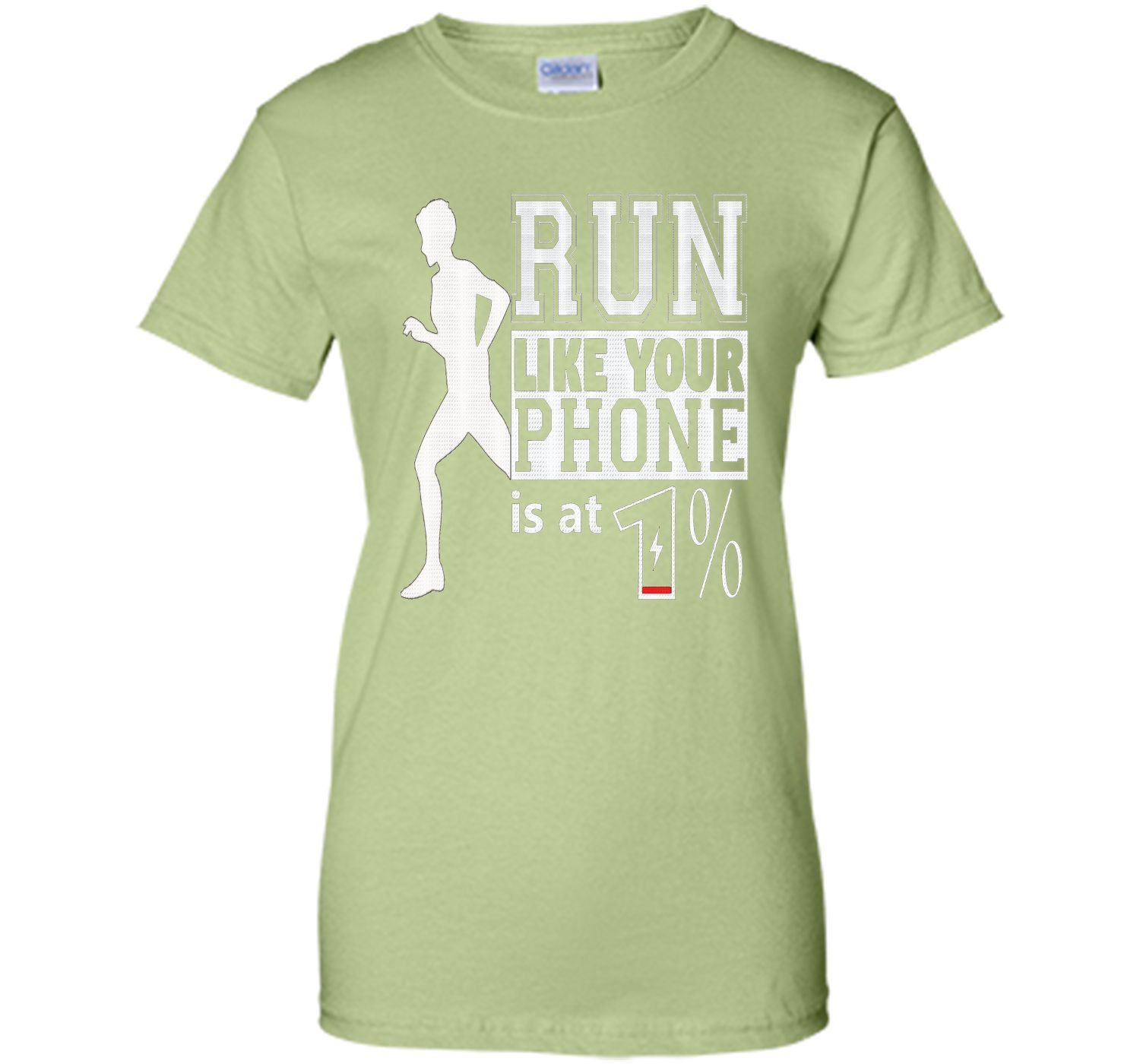 Run Like Your Battery Is Low Funny Running Tshirt