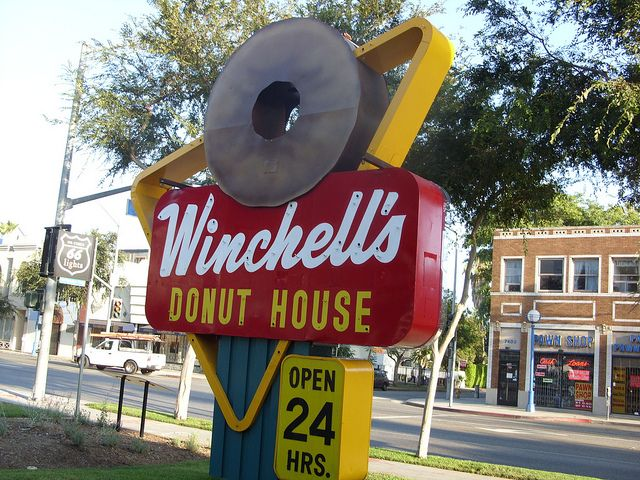 Vintage Winchell S Donut Sign Donut Signs Neon Signs Vintage