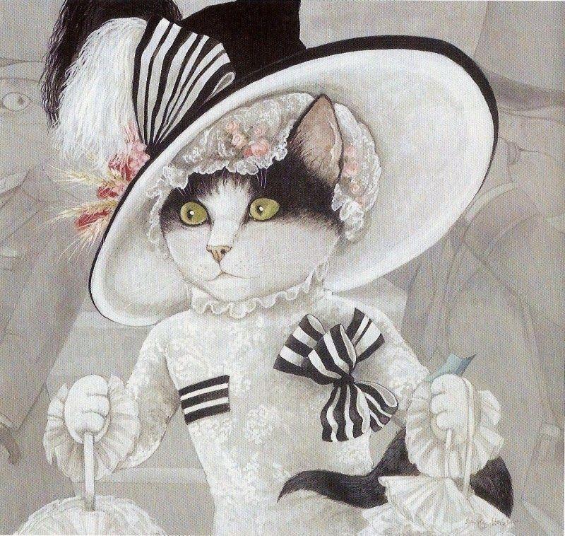 Susan4 Jpg 800 758 Pixels Peinture De Chat Image Chat Animaux En Costumes