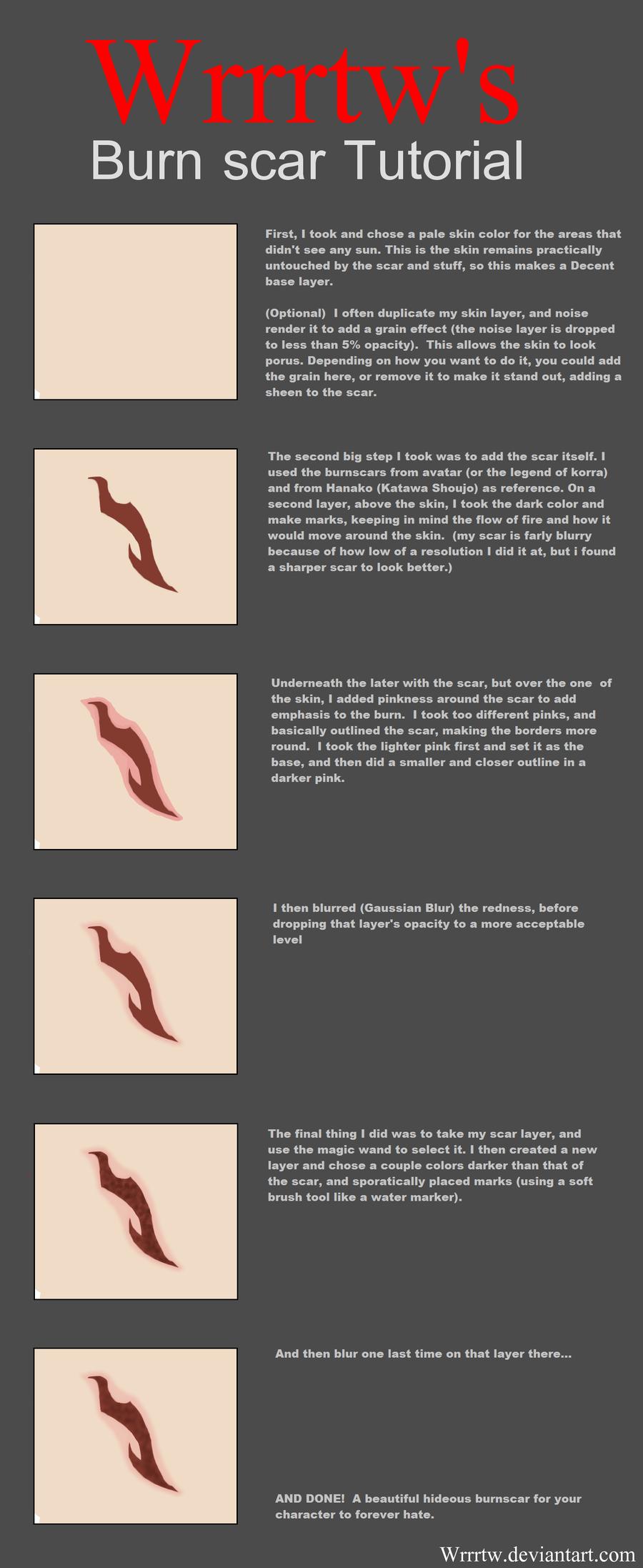 Burn Scar tutorial by wrrrtw  Art and stuff anatomy and